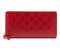 Brieftasche aus Gucci Signature mit Rundumreißverschluss