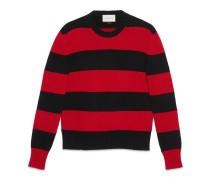 Pullover aus gestreifter Wolle