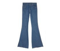 Ausgestellte Jeans mit Anker
