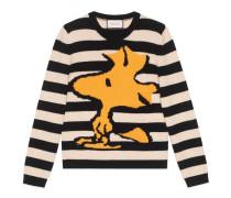 Pullover aus gestreifter Wolle mit Woodstock