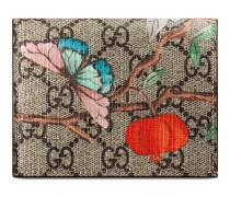 Kartenetui aus GG Supreme Canvas mit Gucci Tian Print