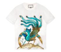 T-Shirt mit Paradiesvogel-Print
