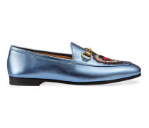 Halbschuh Gucci Jordaan aus metallischem Leder