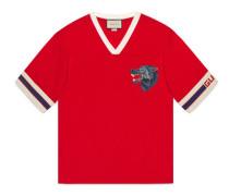 T-Shirt mit Gucci Streifen und Wolfskopf