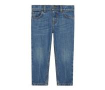 Schmale Kinder Jeans mit Waschung