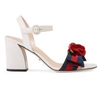 Sandale aus Leder mit mittelhohem Absatz