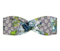 Kopfband aus Seide mit GG Blumen-Print