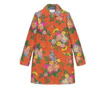 Mantel aus gefilztem Blumen-Jacquard