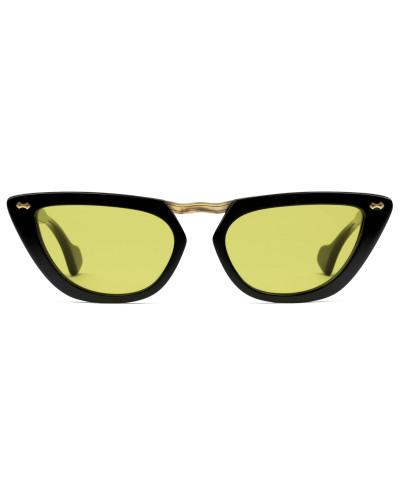 Sonnenbrille aus Azetat in Katzenaugenform