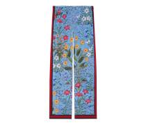 Pyjamahose aus Seide mit neuem Blumen-Print