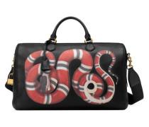 Reisetasche aus Leder mit Kingsnake-Print