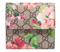 Brieftasche mit GG Blumen-Print mit Überschlag