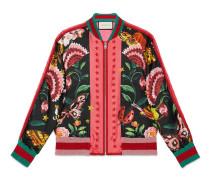 Bomberjacke wendbarer mit exklusivem Gucci Garden-Print