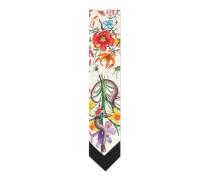 Halsschleife mit Blumen- und Schlangen-Print