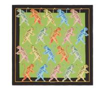 Halstuch aus Seide mit Tiger-Print