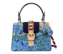 Mini-Tasche Sylvie aus Leder mit New Flora-Print