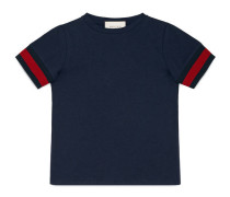 Kinder T-Shirt aus Baumwolle mit Webdetail