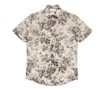 Duke Hemd aus Baumwolle mit Herbarium-Muster