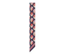 Halsschleife aus Seide mit GG Wallpaper-Print