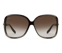 Schwarzgraue eckige Sonnenbrille