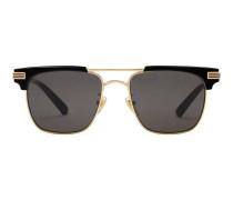 Sonnenbrille mit quadratischem Rahmen aus Metall