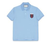 Poloshirt aus Baumwolle mit Web-Applikation