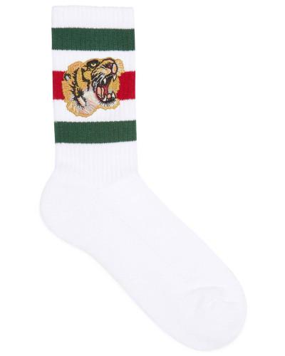 Socken aus Stretch-Baumwolle mit Tiger