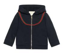 Baby Pullover aus Baumwolle mit Webstreifen