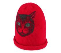 Mütze aus Wolle mit Mystic Cat-Motiv