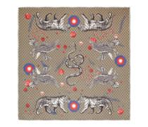 Halstuch aus Modal und Seide mit Space Animals-Print