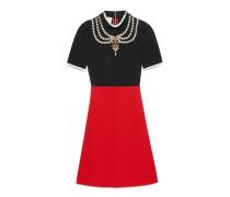 Kleid aus Jersey mit Stickerei