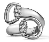 Ring aus Weißgold mit Horsebit