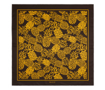 Halstuch aus Seide mit GG Ananas-Print
