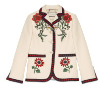 Jacke aus Baumwolle mit Bestickung