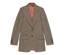 Jackett aus Wolle mit G Jacquard-Muster