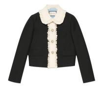 Jacke aus Wolle-Seiden-Krepp