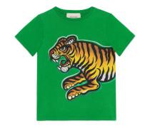 Kinder T-Shirt mit Tiger-Print