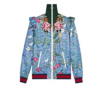 Jacke aus Jersey mit New Flora-Print und Stickerei