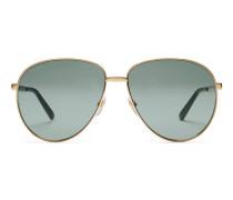Sonnenbrille im Fliegerstil mit Web-Detail