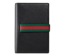 Gucci Elastic Reisepasshülle aus Leder