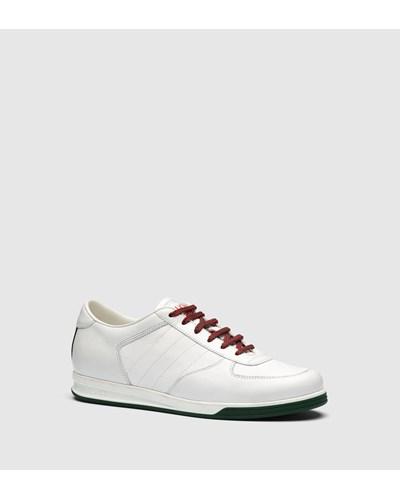gucci damen tief geschnittener sneaker 1984 aus leder reduziert. Black Bedroom Furniture Sets. Home Design Ideas