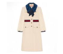 Mantel aus Tweed mit Fell
