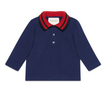 Baby Poloshirt aus Baumwolle mit Webstreifen-Kragen
