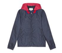 Jacke aus Nylon mit GG Jacquard