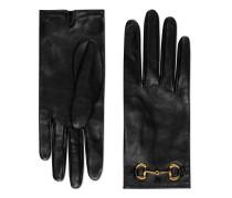 Handschuhe aus Leder mit Horsebit