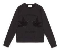 Pullover aus Baumwolle mit Kolibris