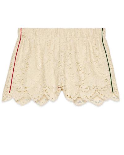 Shorts aus Spitze mit Blumenmotiv