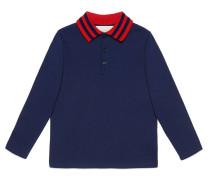 Kinder Poloshirt aus Baumwolle mit Webstreifen