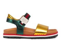 Kinder Sandale aus metallischem Leder mit Profilsohle