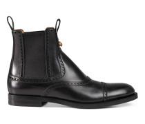 Stiefel aus Leder mit Brogue-Detail